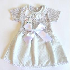 Vestido punto bebe