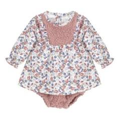 Vestidito bebe granate
