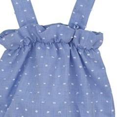 Vestido cuadros vichy bebe...