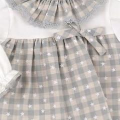 Vestido para bebe azul