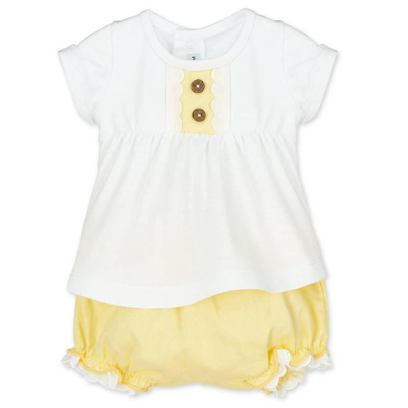 Conjunto pololo amarillo bebe