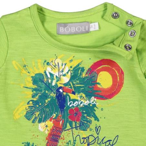 Camiseta Bebe niña Flame botones