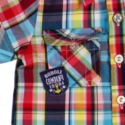Camisa Bebe Niño Cuadros Detalles