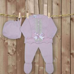 conjunto artesanal para bebes recien nacidos