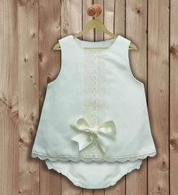 Vestido recien nacida pique