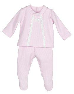Conjunto punto tricot para recien nacido