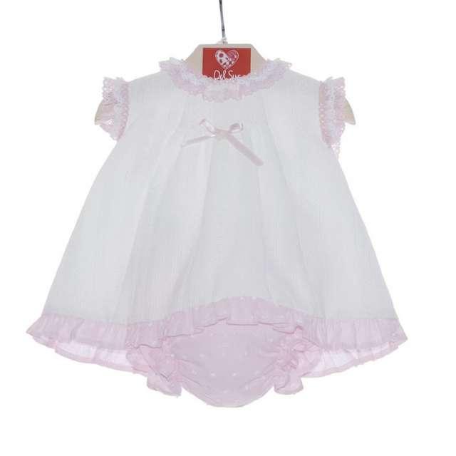 vestido primera puesta puntilla