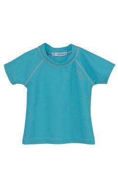 camiseta de baño bebe turquesa