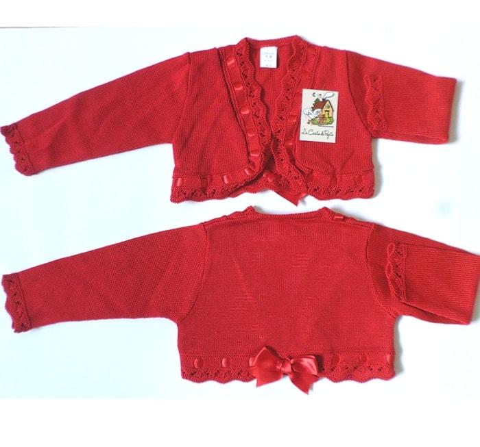 chaqueta para primeras puestas roja alegre